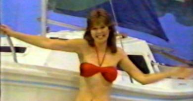 Holly Hallstrom in Red Bikini