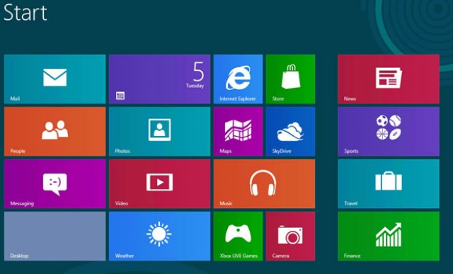 Windows 8 Metro Modern UI