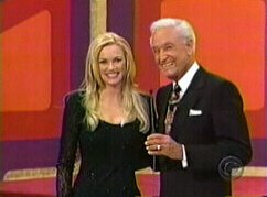 Nikki Ziering and Bob Barker