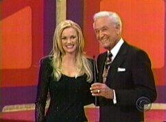Nikki Ziering and Bob Barker