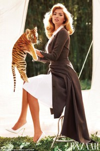 Kate Upton and a Baby Tiger