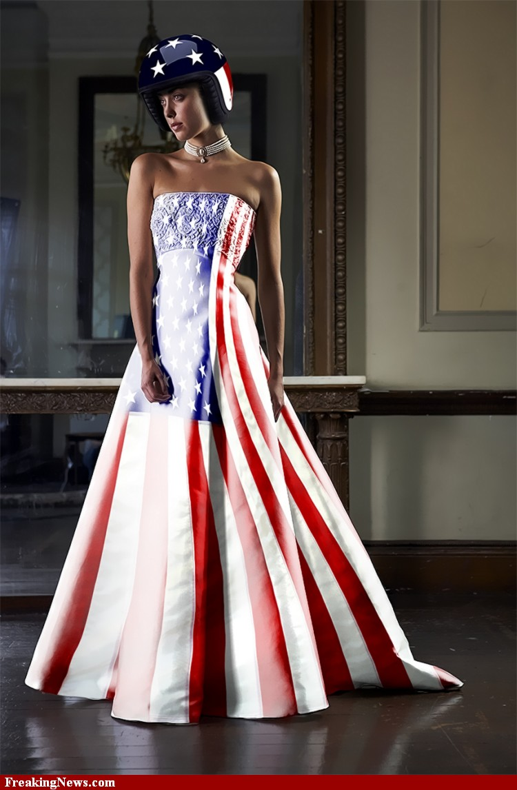 us flag ballgown � thought rot