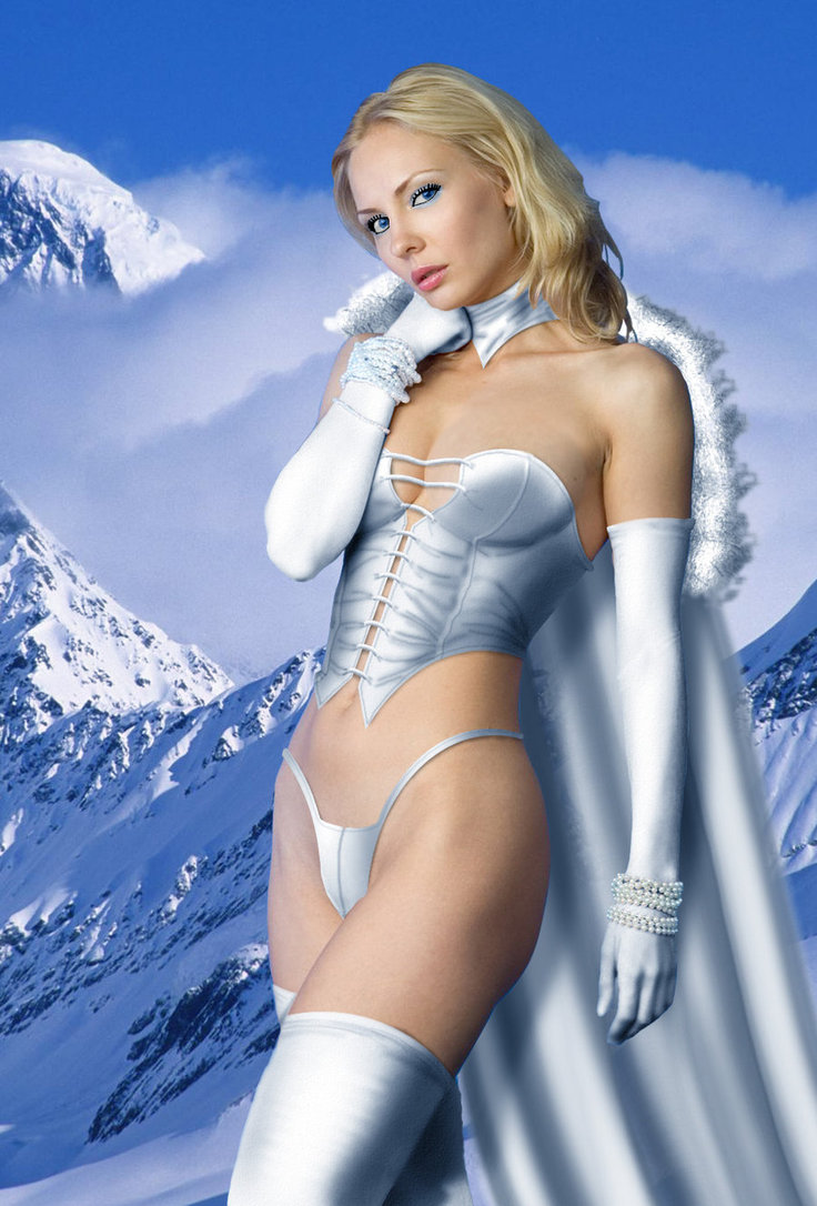 Emma frost cosplay body
