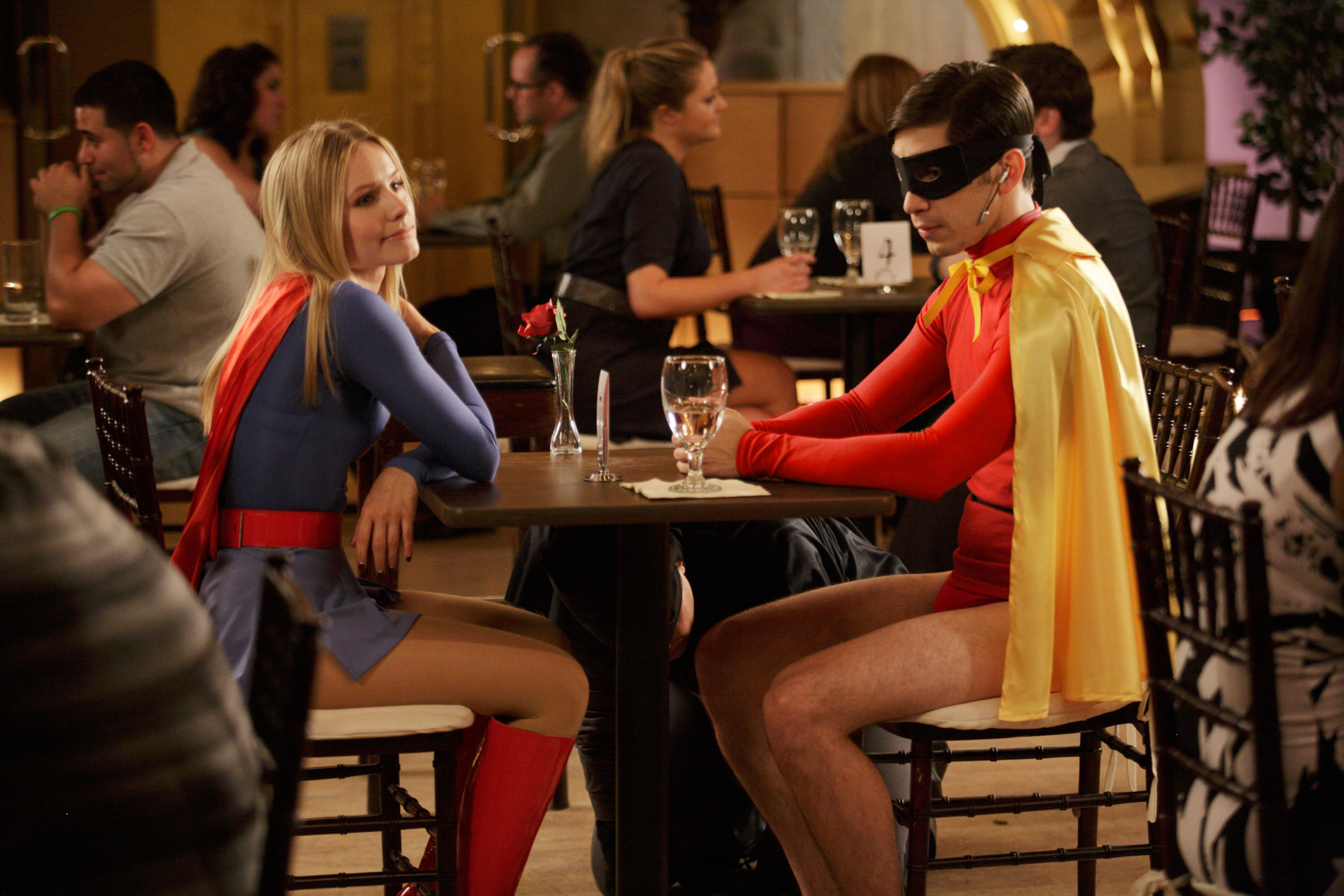 Kristen Bell as Supergirl in Movie 43
