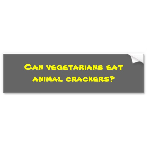 CAN VEGETARIANS EAT ANIMAL CRACKERS