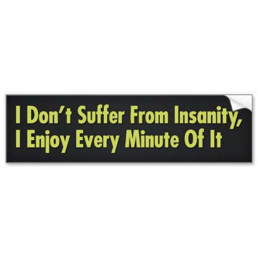 I DONT SUFFER FROM INSANITY