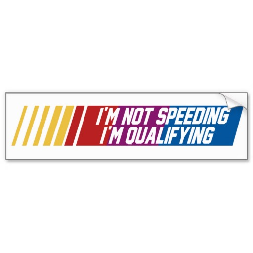 IM NOT SPEEDING
