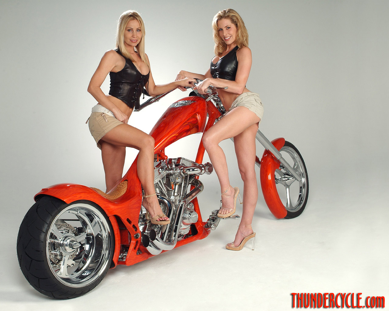 Certainly not Custom chopper motorcycles and girls apologise