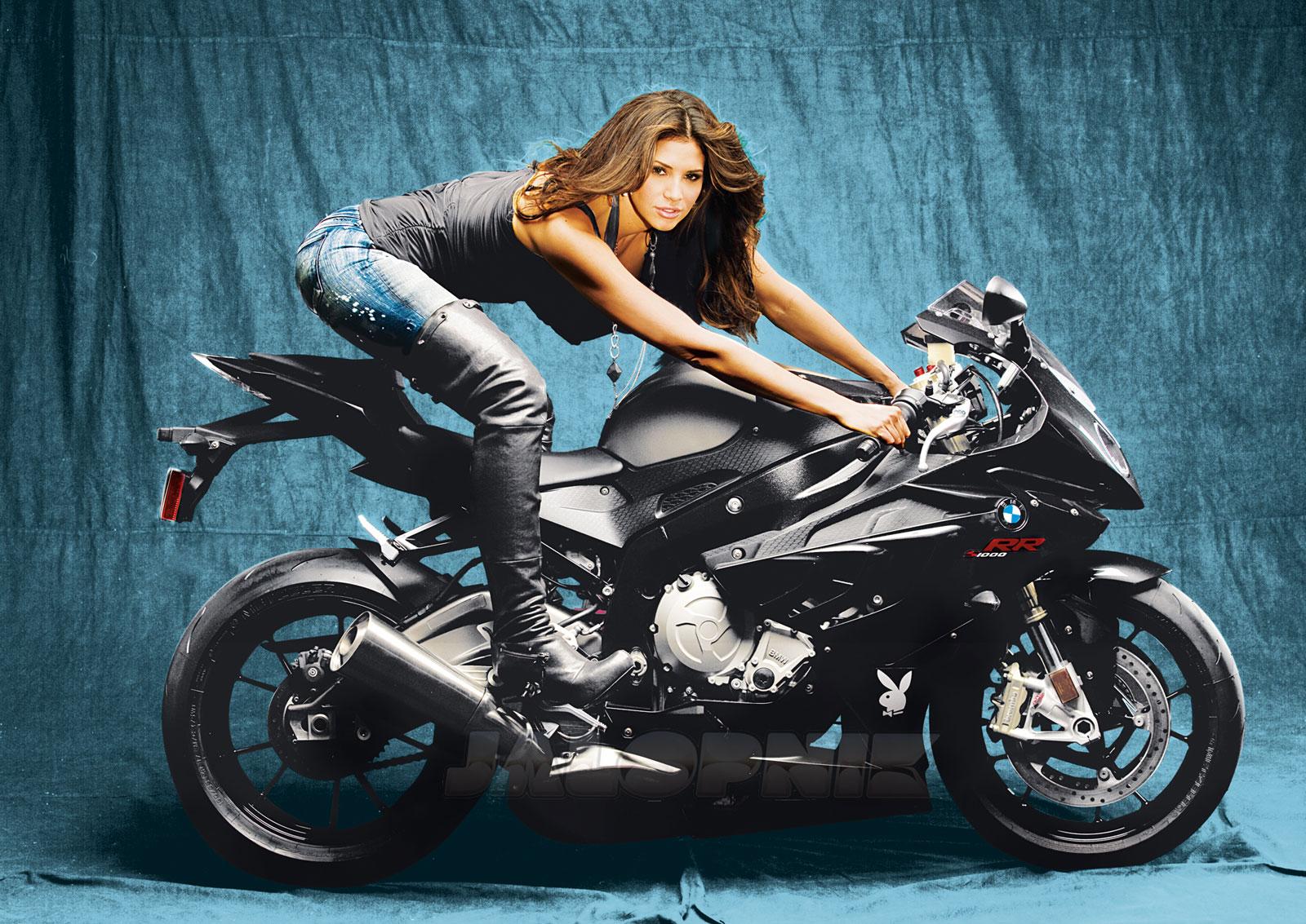 super bikes girl hope dworaczyk a cool bmw motorbike