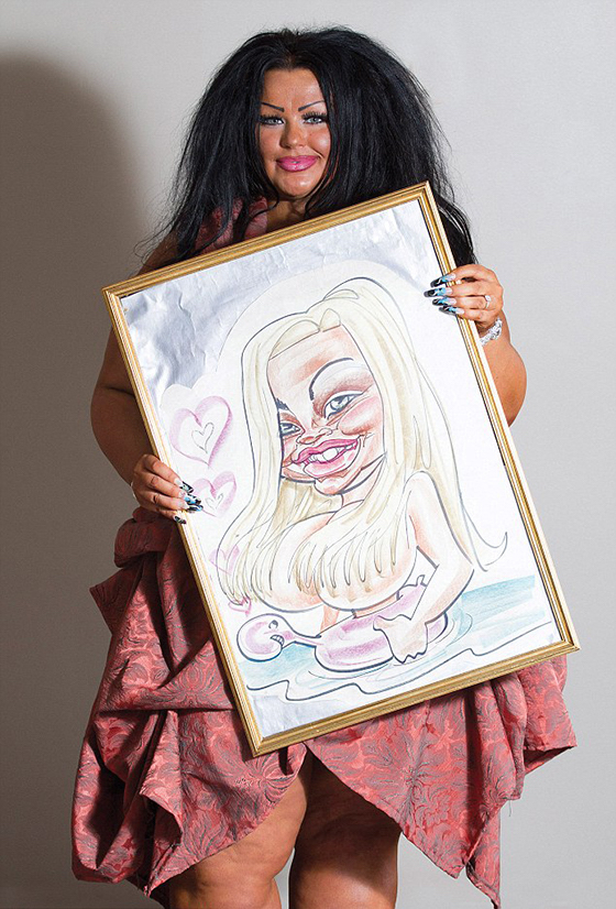 Christine Butel and her funny looking caricature