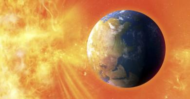 Solar flare hitting Earth