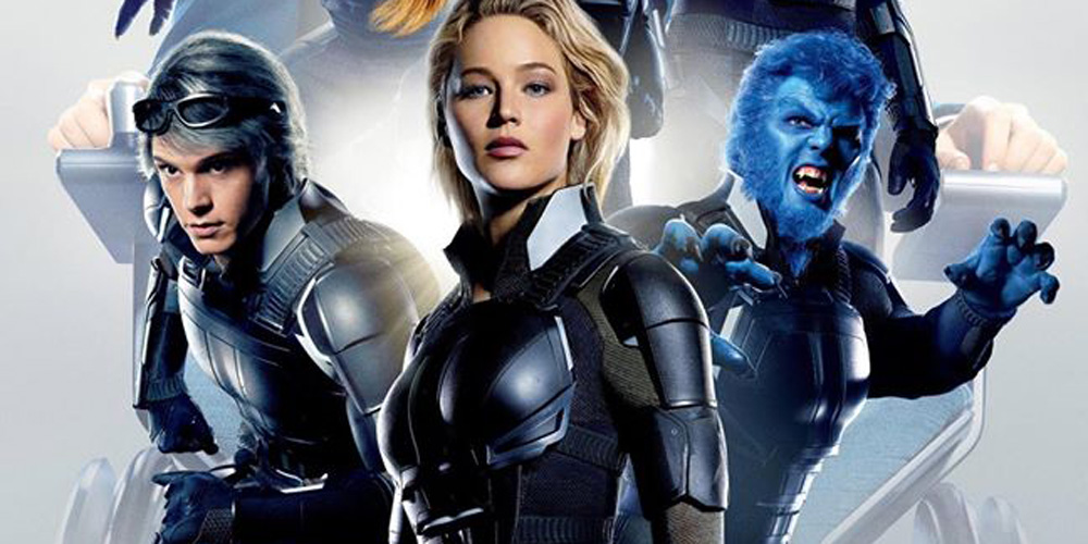 Jennifer Lawrence with the X-Men