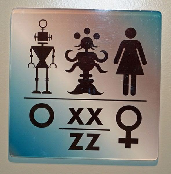 Alien Toilet Sign 2
