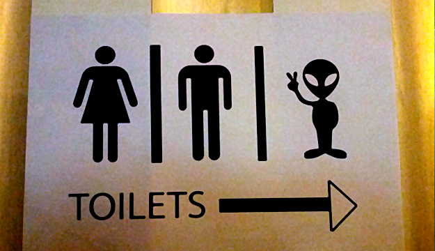 Alien Toilet Signs