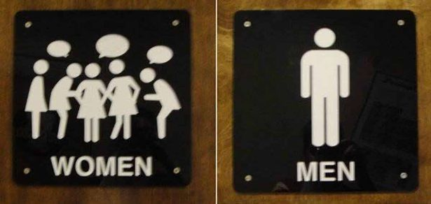 Women vs Man Toilet Sign