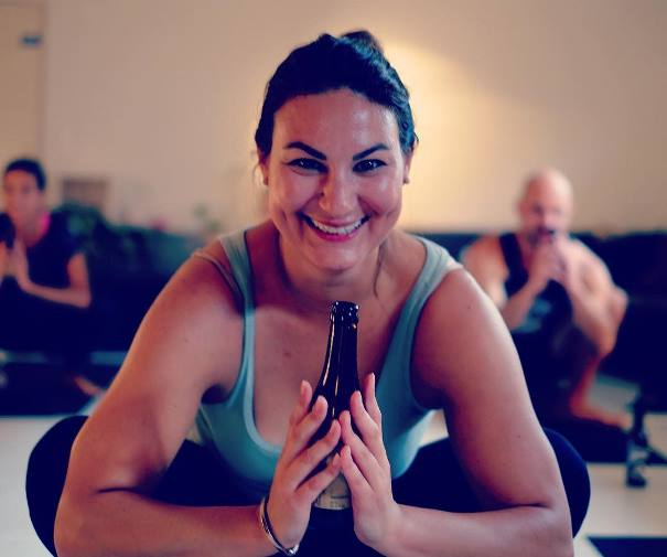 Beer Yoga Pose