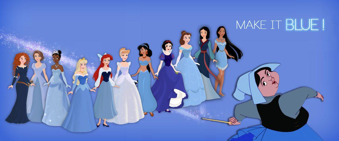 Disney Princesses in Blue