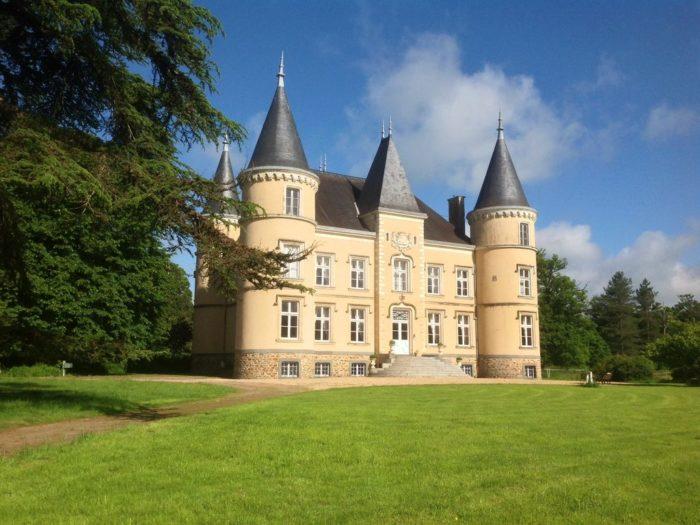Romantic, 19th-century chateau, France
