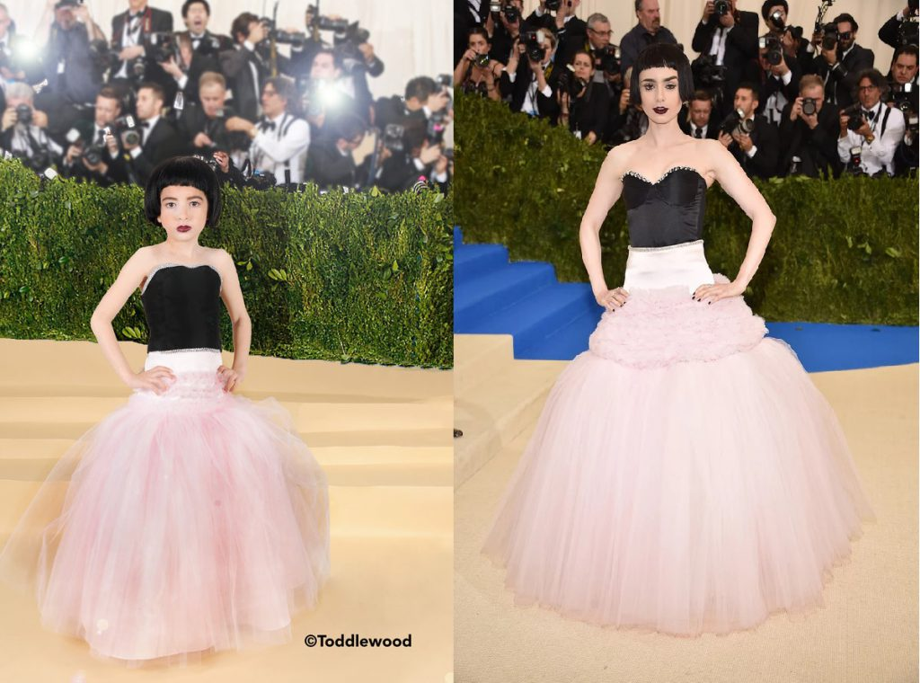 Lily Collins' look at the 2017 Met Gala.
