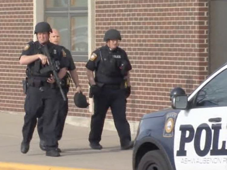 Armed police on alert