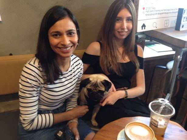 Organiser Anushka Fernando with her pug
