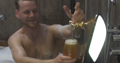 Enjoy indoor beer spa