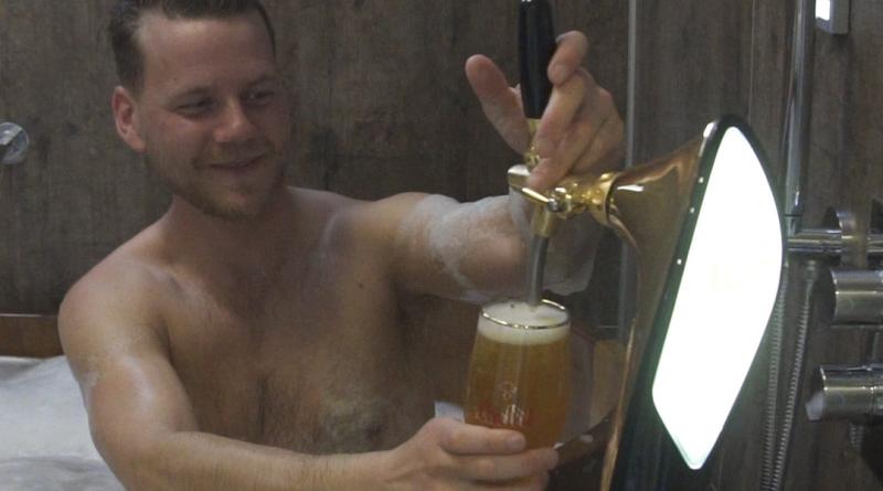 Enjoy indoor beer spa