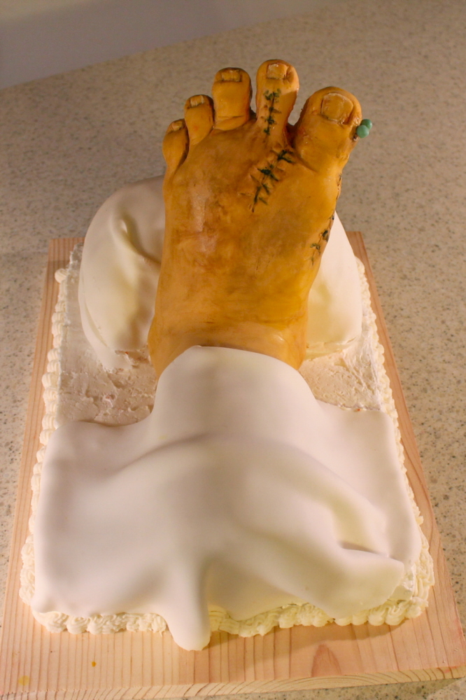 Injured Foot Cake